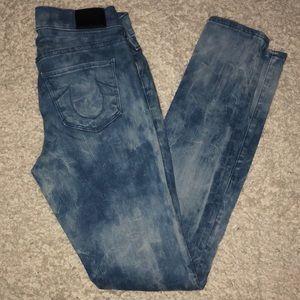 True Religion Halle Super Skinny Jeans Moto Sz 25
